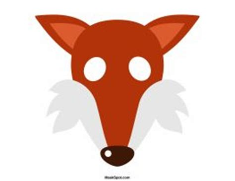 fox mask template the o jays coloring pages and mask template on