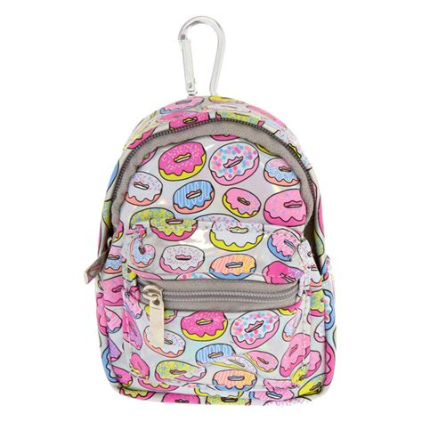 Hologram Coin Purse holographic donut mini backpack keychain coin purse