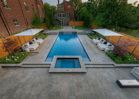 Backyard with Everything Contemporary Pool toronto by Betz Pools Limited
