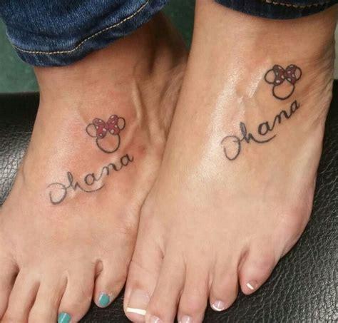 matching disney tattoos matching ohana tattoos with my cousin ink tattoos