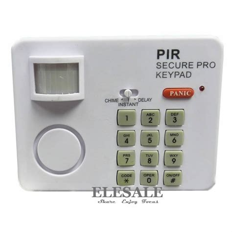 wireless pir motion sensor detector alarm with keypad