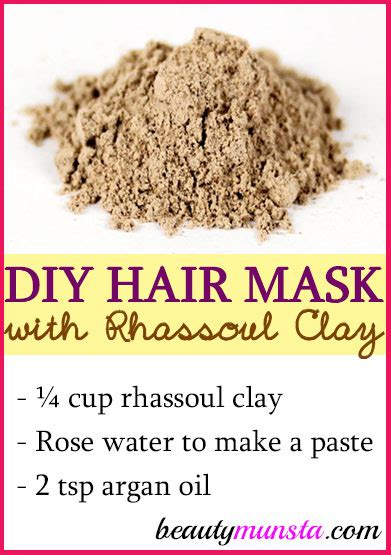 Moisturizing Diy Clay Mask Recipe Rosehip Clay Masks And Masking Diy Rhassoul Clay Hair Mask For Clean Shiny Hair Recipe From Morocco Beautymunsta