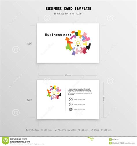 Biz Card Size Template by Business Card Stock Size Images Card Design And Card