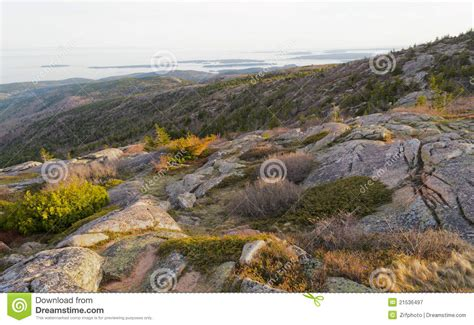 cadillac mountain time cadillac mountain sunset royalty free stock photography