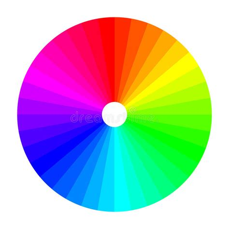 wheels l shade color wheel with shade of colors color spectrum stock