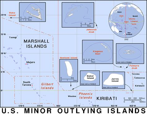 united states islands map united states minor outlying islands umi um country map atlas