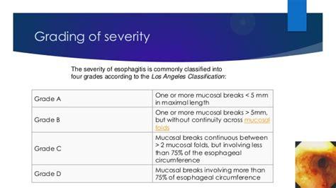 Esophagitis La Classification For Esophagitis