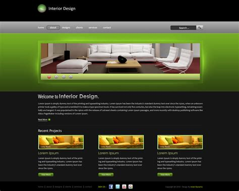 interior designer websites interior design website by innerdynamic on deviantart