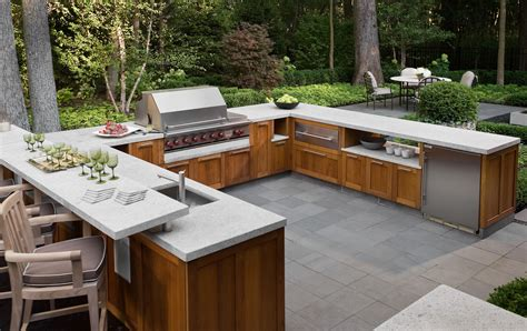 welcoming bbq season backyard granite countertop