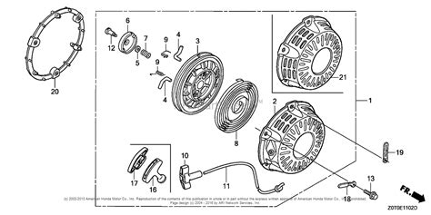 honda gx160 parts diagram honda engines gx160t1 vwa2 engine tha vin gcabt 1000001