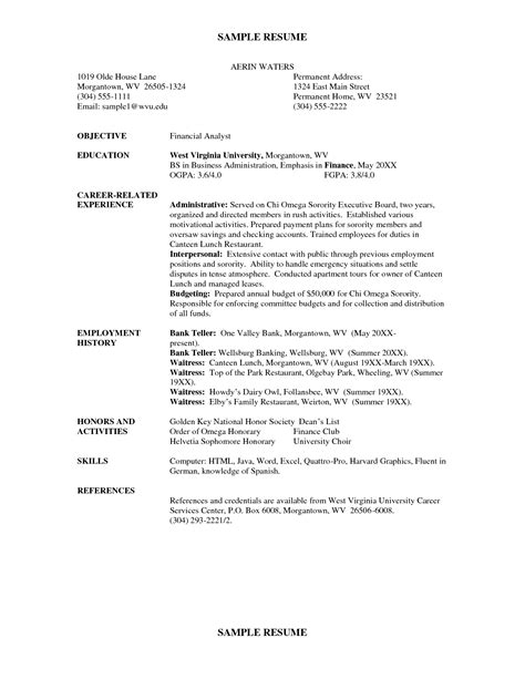 Sorority Resume by Sorority Resume Resume Badak