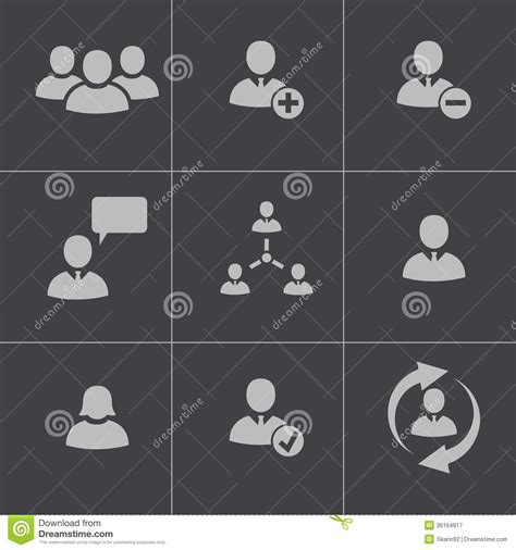 eps format office vector black office people icons set royalty free stock