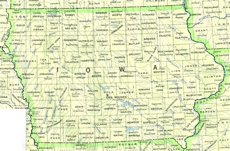 iowa state map iowa maps perry casta 241 eda map collection ut library