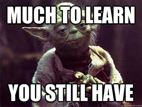 Yoda Meme - much to learn you still have tiwyf yoda quickmeme