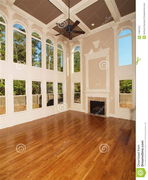 interior home pictures model luxury home interior living room windows stock photo