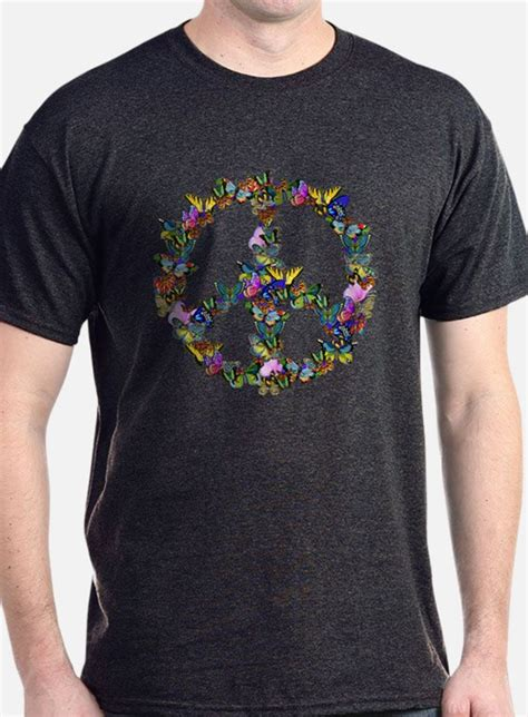 Peace Symbol T Shirt s butterfly peace symbol t shirts butterfly peace