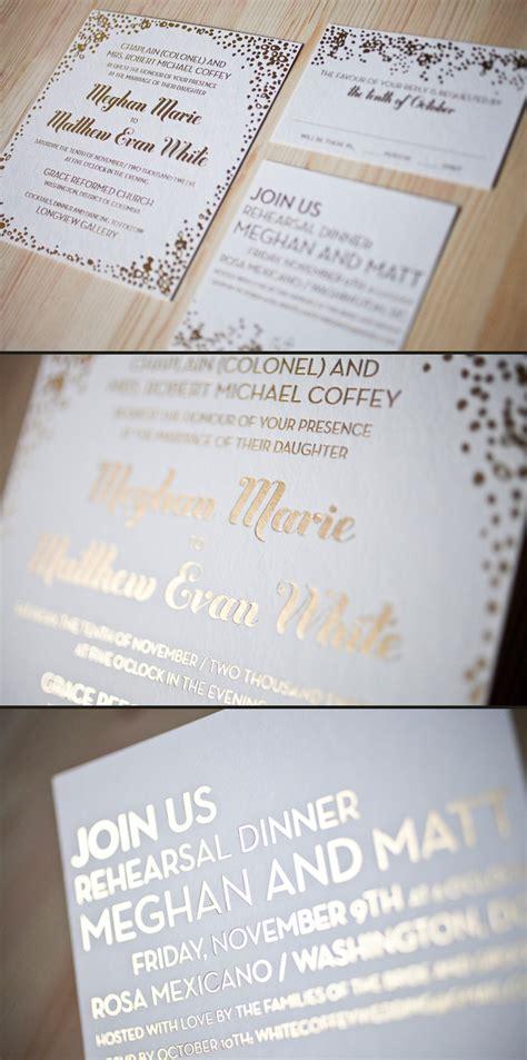 foil sted wedding invites foil wedding invitations smock