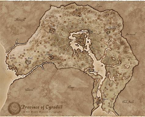 oblivion map skyrim elder scrolls cyrodiil maps tes iv