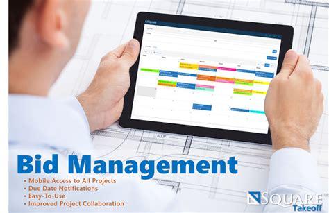 Bid Manager Construction Bid Management System Squaretakeoff