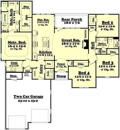 75 sq feet houseplans com traditional main floor plan plan 430 75