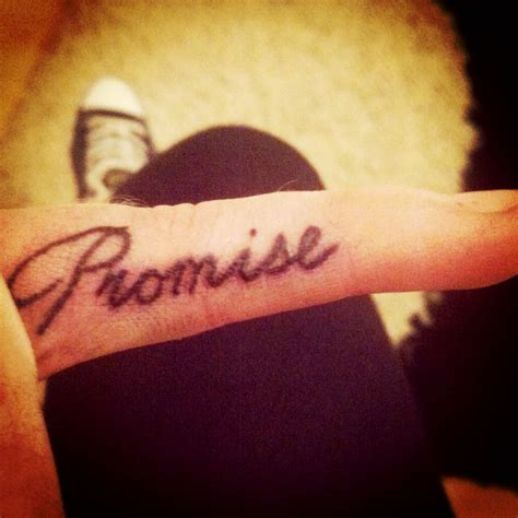 promise tattoo on pinky my promise inkspiration