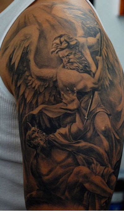 st michael chest tattoo 17 best images about s on wolves tree