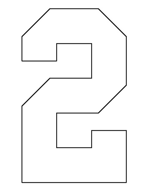 number 2 template number 2 pattern use the printable outline for crafts