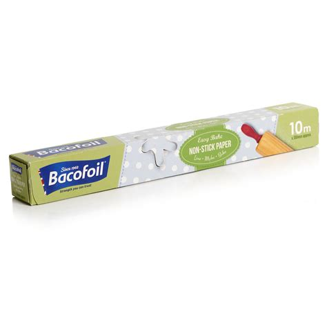 stick paper bacofoil non stick baking paper 10m x 380mm at wilko com