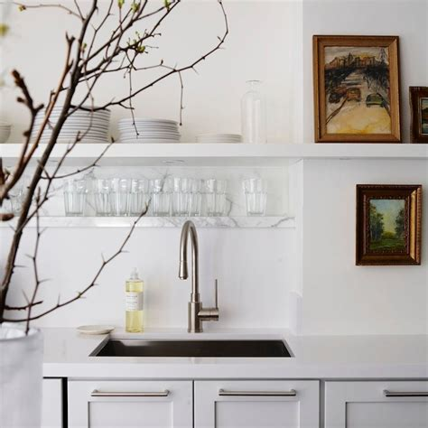 cameron macneil modern off white kitchen design with soft marble kitchen shelves contemporary kitchen cameron