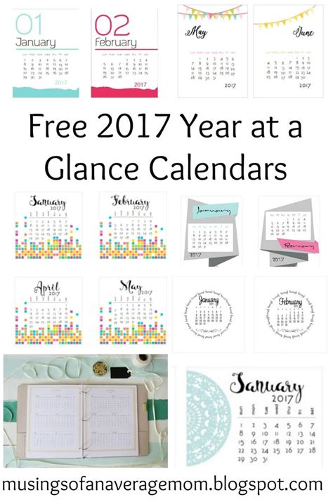 free printable 2016 year at a glance calendar hello best 25 at a glance calendar ideas on pinterest at a