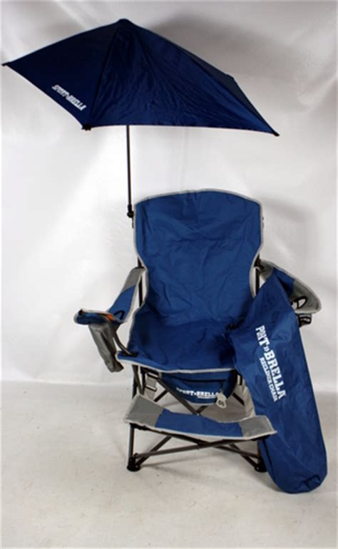 Reclining Chair With Umbrella by Blue Sport Brella Folding Sport Recliner Chair With