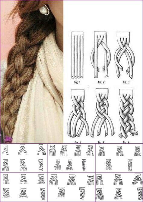 braid how tos how to super cute 4 strand braid step by step diagram