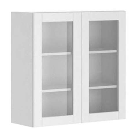 glass kitchen cabinet doors home depot fabritec 30x30x12 5 in amsterdam wall cabinet in white