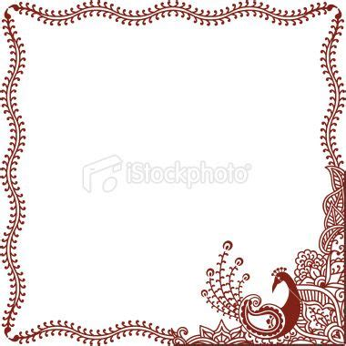 indian pattern frame henna tattoo peacock indian culture design frame