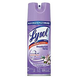 lysol disinfectant spray early morning breeze  oz pack    office depot officemax