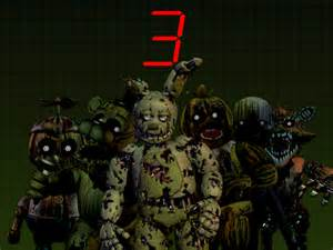 Five nights at freddy s 3 all animatronics by thesitcixd on deviantart