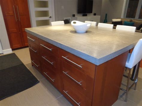 undermount concrete countertop modern kitchen concrete countertop with island and
