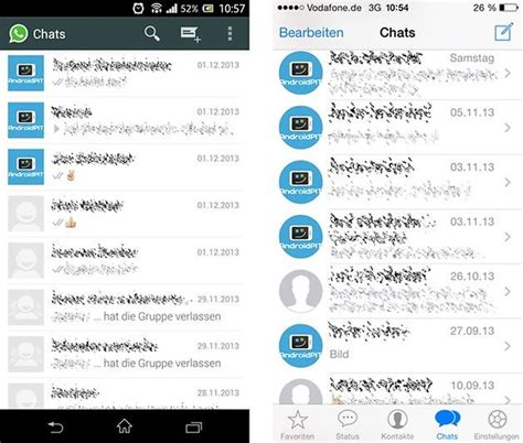 chat between android and iphone whatsapp comparison ios vs android androidpit
