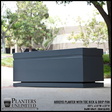 large commercial planters arroyo large rectangle planter commercial outdoor