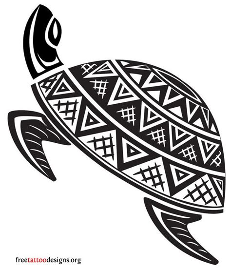 turtle tattoos polynesian and hawaiian tribal turtle