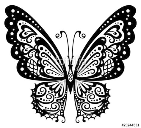 black and white butterfly pattern quot artistic pattern with butterfly suitable for a tattoo