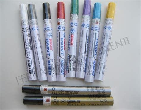 Murah Spidol Snowman Paint Marker White Colour snowman permanent marker to all surfaces touch up not suitable for children choose color