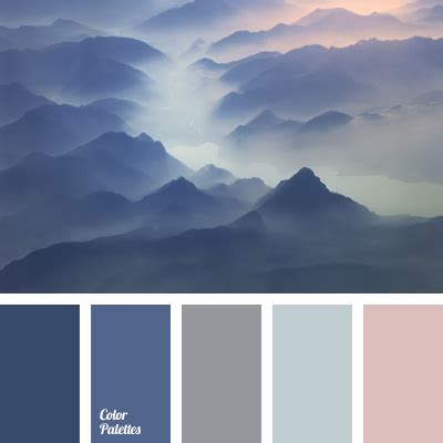 color of fog in mountains color palette ideas