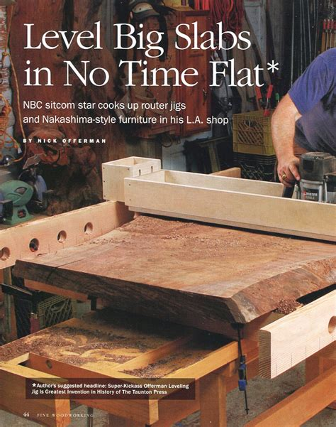 made by woodworking press woodworking magazine article nick offerman