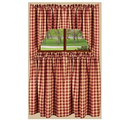 plaid curtains for kitchen plaid kitchen curtains blue yellow veranda plaid tie back