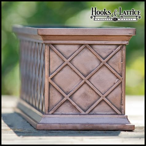 bronze window boxes copper flower boxes and bronze window boxes hooks and
