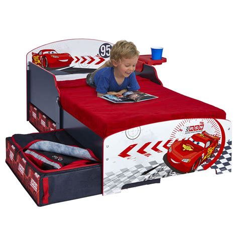 disney cars bed disney cars junior toddler bed storage shelf new boxed