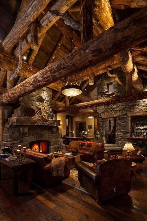 Beautiful Log Home Interiors Cozy Cabin Decor Pictures Photos And Images For Pinterest And