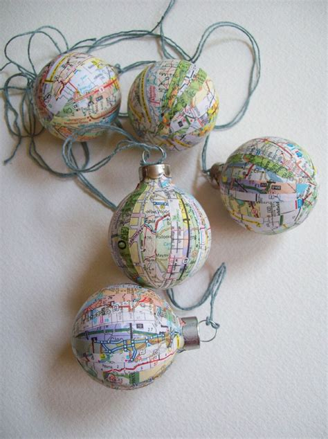it s a small world map ornaments travel theme by