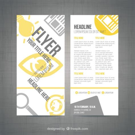 flyer template editor modern flyer template vector free download